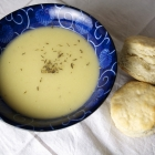 Potato Leek Soup and Easy Buttermilk Biscuits